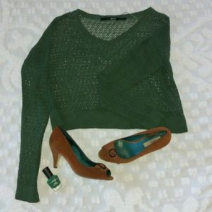 Nordstrom Green netted top Polish included